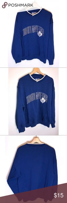 Vintage Starter NHL Toronto Maple Leafs V neck LRG Good condition. Pit to  Pit  ded339cdd
