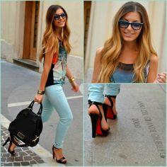 Givenchy Bag, Christian Louboutin Sandals, Ray Ban Sunnies