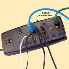 Storm Survival Guide: Install Surge Protectors to Protect your Microprocessors #emergencyprep - Get the guide: http://www.familyhandyman.com/smart-homeowner/home-safety-tips/blackout-survival-guide