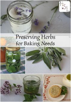 Make time now for preserving herbs so that later this year you'll have homegrown flavor for all your baking and gift giving needs.