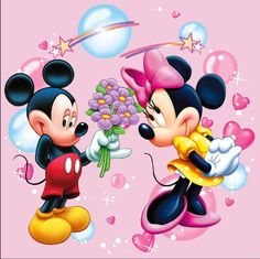Mickey mouse et Minnie. Arte Do Mickey Mouse, Mickey And Minnie Love, Mickey Mouse Images, Minnie Mouse Pictures, Mickey Mouse And Friends, Disney Pictures, Walt Disney, Disney Magic, Disney Art