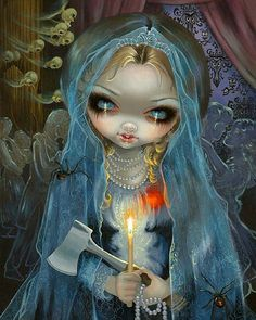 Jasmine Becket-Griffith Ghosts | Haunted Mansion: The Bride ORIGINAL PAINTING Disney by Artist Jasmine ...
