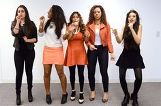You are singing a song but they are the wrong lyrics: | All The Fifth Harmony Reaction GIFS You'll Ever Need