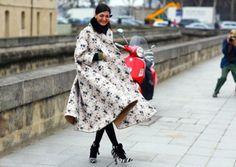 Haute-Couture-ROCHAS-Floral-Neoprene-Coat-Full-Skirt-