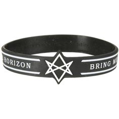 Hot Topic Bring Me The Horizon Die-Cut Rubber Bracelet (71 ARS) ❤ liked on Polyvore featuring jewelry, bracelets, multi, rubber jewelry, white jewelry and rubber bangles
