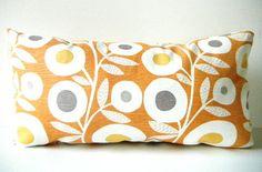 Orange Pillow Cover Tangerine Lumbar Pillows by CityGirlsDecor, $29.70