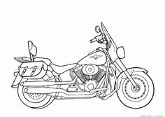Motorcycle Coloring Pages Pictures