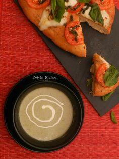 Cream of Broccoli Soup - served with Focaccia Caprese