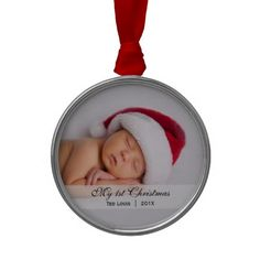 Babys  |  First Christmas Photo Ornament