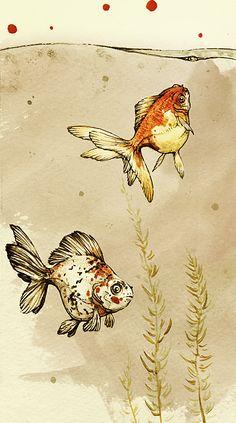 Daddy Goldfish by *SmolderBone on deviantART