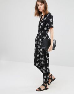Image 4 of Warehouse Stencil Floral Jumpsuit