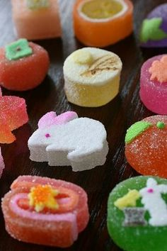 Japanese Spring Wagashi sweets.  Very sweet and eaten (usually just one) while drinking bitter green tea.