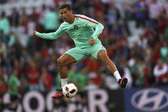 Cristiano Ronaldo even warms up like a boss. #EURO2016