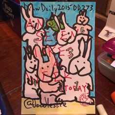 Seven makes a week 2015-09-30 11:20pm DD273 #drawdaily2015 #getsketchy25 #atlsketchsociety