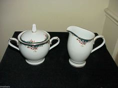 Noritake Embrace Sugar With Lid & Creamer Set NEVER USED