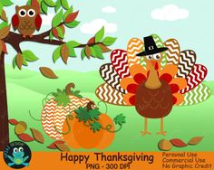 85% OFF SALE Thanksgiving Clipart Turkey Clipart Pumpkin by Upzaz