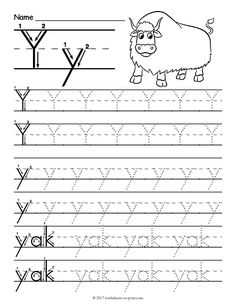 Free Printable Tracing Letter Y Worksheet Letters Worksheets For Nursery Alphabet Tracing Worksheets, Spelling Worksheets, Free Kindergarten Worksheets, 1st Grade Worksheets, Tracing Letters, Science Worksheets, Worksheets For Kids, Printable Worksheets, Free Printable
