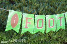 Football Free Printable you can cutomize for any team or saying @DimplePrints- Carli- Carli