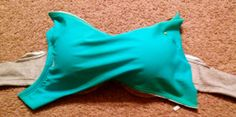 Bra to Swimsuit Top | livinglavidalinda.... How to change an old bra to a new swimsuit