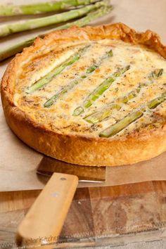 Asparagus & Pancetta Quiche Recipe  | MongolianKitchen.com