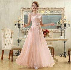 Vestido rosa claro perfeito