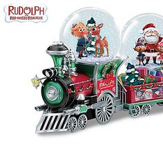 Shop The Bradford Exchange for Rudolph The Red-Nosed Reindeer Express Snow Globe Collection. Since the world has set their holiday clocks by the annual viewing of Rudolph the Red-Nosed Reindeer®. Now, the magic of a Rudolph® holiday unites with two. Rudolph Red Nosed Reindeer, Rudolph Christmas, Christmas Snow Globes, Rudolph The Red, Christmas Gifts, White Christmas, Christmas History, Reindeer Christmas, Christmas Things
