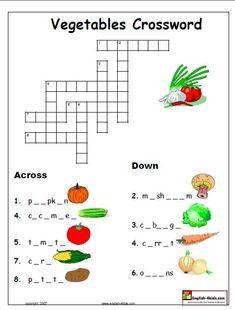 ชีทภาษาอังกฤษเกี่ยวกับผัก