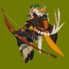 Four Winds Archer Fantasy Character Design, Character Creation, Character Design Inspiration, Game Character, Character Concept, Concept Art, Character Illustration, Illustration Art, Fanarts Anime