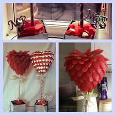Giant strawbs and haribo hearts wedding trees