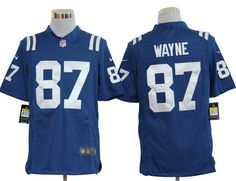 Nike Colts #87 Reggie Wayne Blue Team Color Mens NFL Game Jersey
