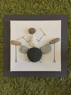 Items similar to Drummer Drumming music Pebble Art Canvas Picture on Etsy Stone Crafts, Rock Crafts, Arts And Crafts Projects, Sea Glass Crafts, Sea Glass Art, Seashell Projects, Drummer Gifts, Pebble Pictures, Diy Wall Art