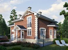 Проект «Барри» Plans Architecture, Mansions, House Styles, Home Decor, Decoration Home, Manor Houses, Room Decor, Villas, Mansion