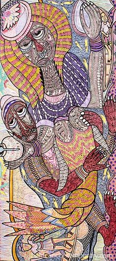 african contemporary | contemporary african art gallery > contemporary african paintings, modern painters from africa