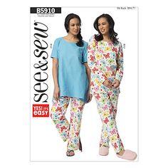 Buy Butterick Women's Nightwear Sewing Pattern, 5910, A Online at johnlewis.com