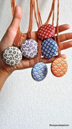 Japanese fabric neckaces