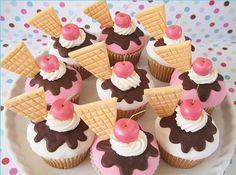 leuke (ijs)cupcakes erg leuk idee