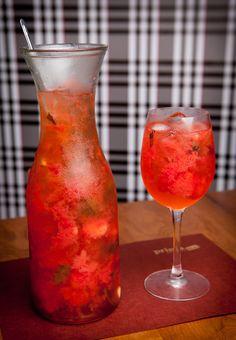 drink, rissini spritz, morango, vodca, espumante, prosecco, receita, como fazer