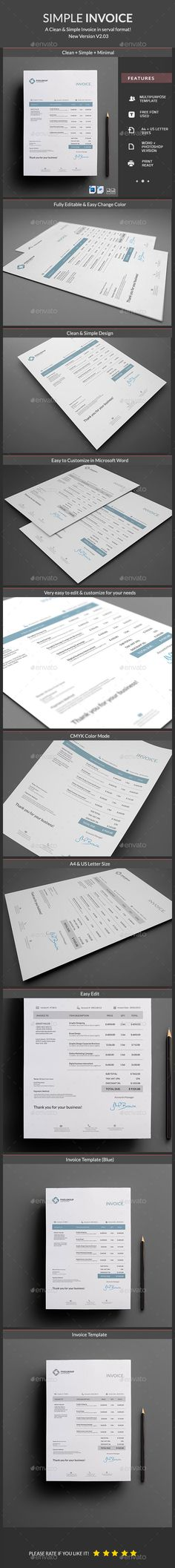 proposal template for word%0A Invoice A  Template PSD  MS Word