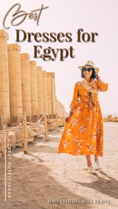 Are you wondering what the best dresses are for your trip to Egypt? This post is for you! I'm sharing several different dresses I wore for my adventures. | Egypt dresses | Egypt outfits | Egypt outfit ideas | Egypt dress | Egypt dress code | Egypt outfits women | egypt outfit travel fashion | travel dresses #egypt #outfits Modest Dresses, Cute Dresses, Travel Fashion, Travel Style, Women's Fashion, Fashion Trends, Travel Dress, Different Dresses, Smock Dress