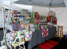 Hip to Piece Squares Craft Fair Setup - Love it!  #craft show #craft fair #booth display ideas