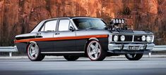 A stunningly built Ford Falcon XY GT replica with a blown and injected twist! Australian Muscle Cars, Aussie Muscle Cars, Old Trucks, Chevy Trucks, V8 Cars, Aussie Australia, Cardi B Photos, Ford Classic Cars, Ford Falcon
