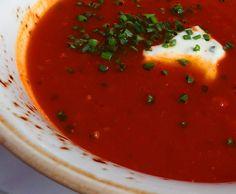 Rezept Tomaten-Mango-Suppe mit Feta / Schafskäse von Fett-For-Fun-Thermi - Rezept der Kategorie Suppen