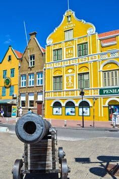 Willemstad, Curacao. Aruba's sister island and the largest of the ABC islands.