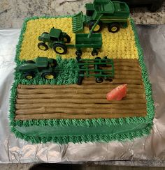 Tractor Birthday Cakes, Birthday Sheet Cakes, Themed Birthday Cakes, Mickey Birthday, Themed Cakes, Boy Birthday, Party Desserts, Party Cakes, Birthday Traditions