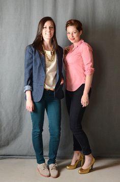 Thrifty Friend fashion - wool blazer and analogous color scheme