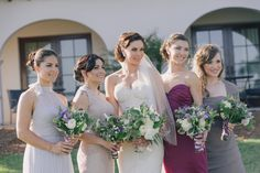 Rustic Mismatched Bridesmaids Article: Mismatched Bridesmaid Dresses for Trendsetting Brides Photography: Kris Kan Read More: http://www.insideweddings.com/news/fashion/mismatched-bridesmaid-dresses-for-trendsetting-brides/2043/