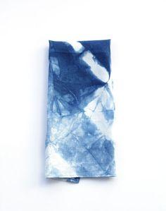Hand Dyed Indigo Shibori LINEN Dishcloth / by Holliandfield