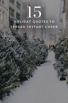 Rather than indulge our inner Scrooge (which, trust, is easy to do), we like to go the route of Buddy the Elf and embrace the Christmas cheer full on. Need a little help getting there? Allow these 15 quotes to instill you with the spirit of the holidays. Happy Holidays Quotes Christmas, Witty Christmas Quotes, Merry Christmas Quotes Wishing You A, Holiday Wishes Quotes, Cheer Quotes, Christmas Past, Inspirational Holiday Quotes, Christmas Decor, Christmas Ideas