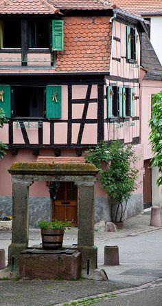 Obernai, Alsace,France  Find Super Cheap International Flights to Strasboursg, France https://thedecisionmoment.com/cheap-flights-to-europe-france-strasbourg/