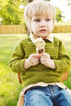 Limepop Sweater by Terri Kruse. Tios supewash. Lettuce color. MFPP